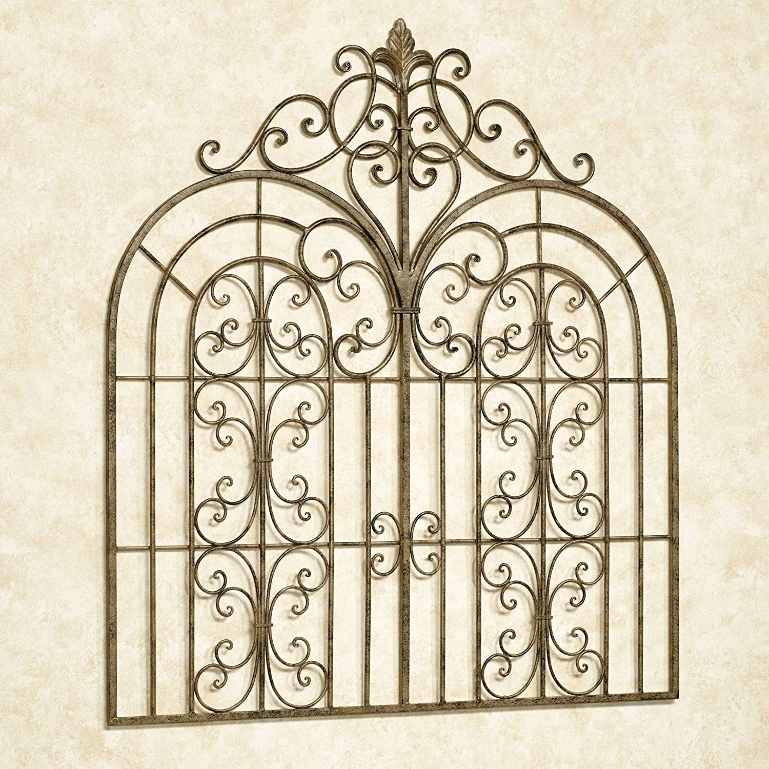 Touch of Class Beyond The Gates Wall Grille Antique Gold