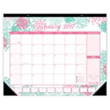 """Amazon Price History for:bloom daily planners 2017 Calendar Year Desk Calendar - Cute Pink and Green 16"""" x 21"""" Desk or Wall Calendar with FREE Vision Board! 2017 Calendar Year Desk Pad: January 2017 to December 2017 - Bloom"""
