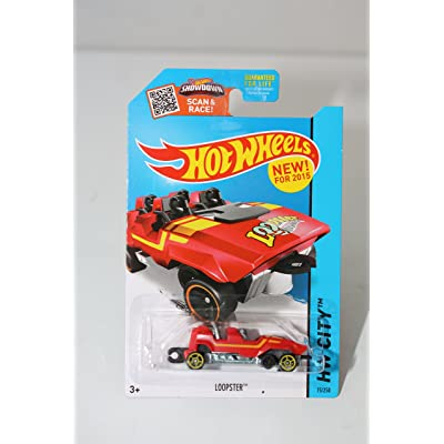 Hot Wheels, 2015 HW City, Loopster [Red] Hands Up Version Die-Cast Vehicle #75/250: Toys & Games