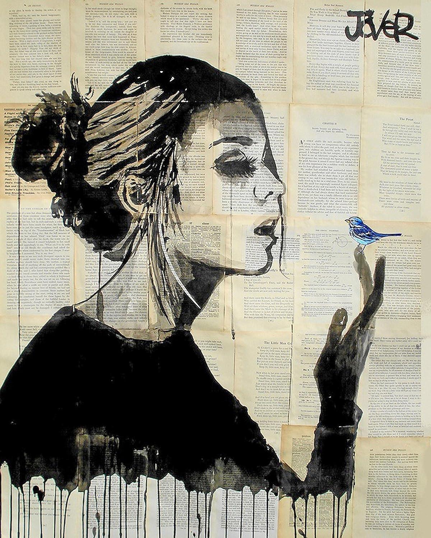 Kings Wood Art LJ/_Bluebird II 10X12 Fine Art Canvas Print Multicolor