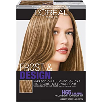 Amazon loral paris frost and design cap hair highlights loral paris frost and design cap hair highlights for long hair h65 caramel pmusecretfo Choice Image
