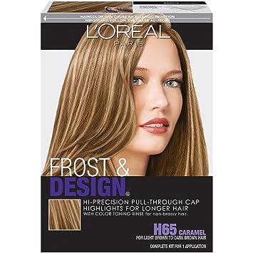 Amazon loral paris frost and design cap hair highlights loral paris frost and design cap hair highlights for long hair h65 caramel pmusecretfo Images