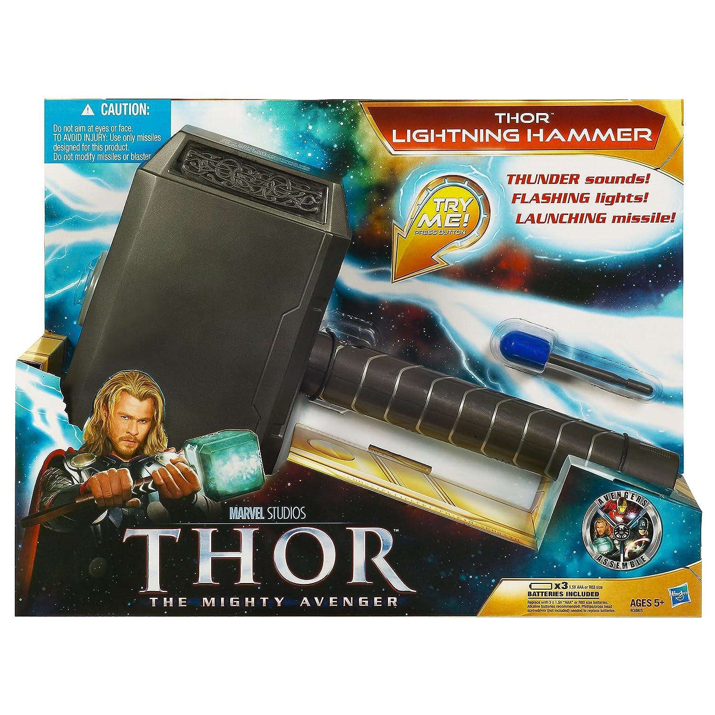 amazon com thor lightning hammer toys games