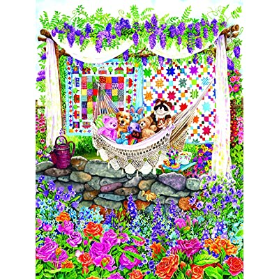 Garden Hammock 1000 pc Jigsaw Puzzle by SunsOut: Toys & Games