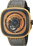 SEVENFRIDAY Men's P1-3 Kuka Robot Orange Analog Display Japanese Automatic Black Watch