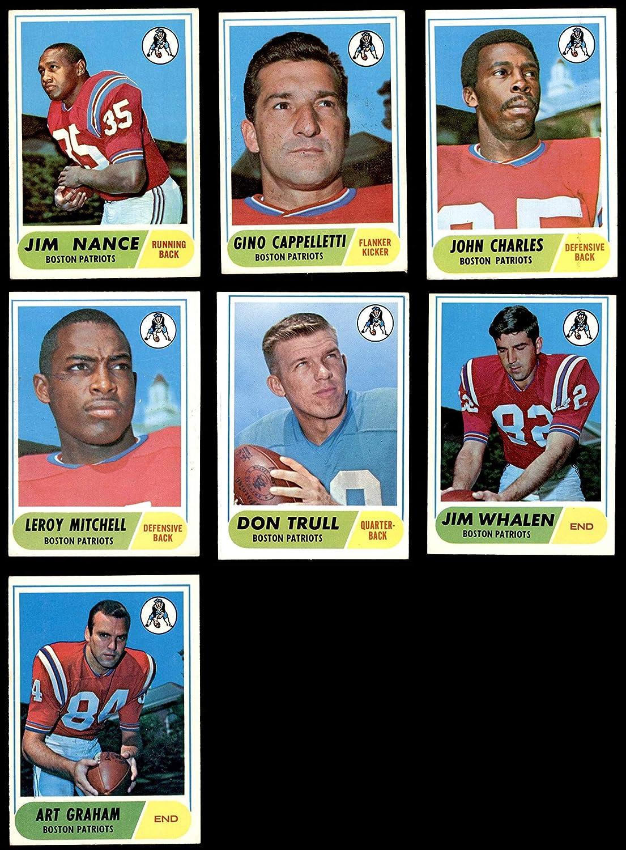1968 Topps New England Patriots Team Set New England Patriots (Baseball Set) Dean's Cards 5 - EX Patriots 91L54ZYeN9L