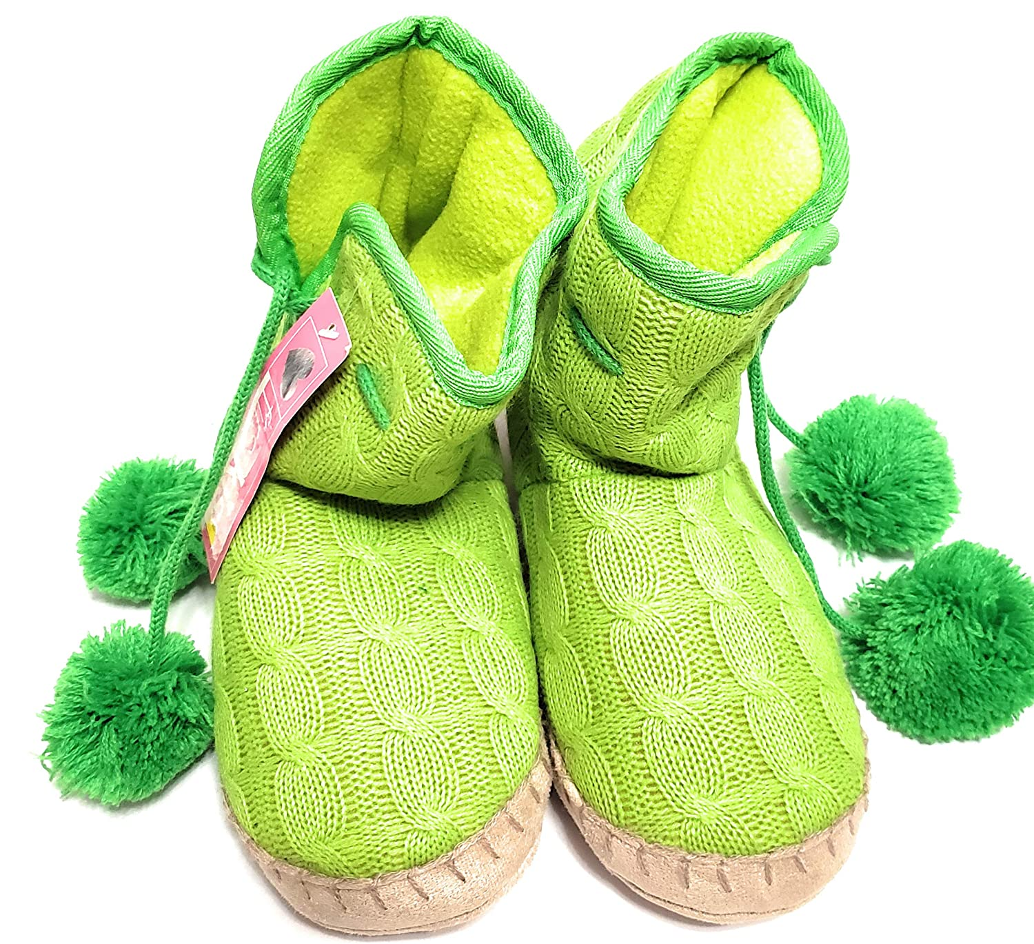 First Kiss Girls House Shoes//Boots Green