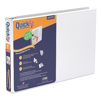 amazon com quickfit heavy duty 8 5 x 11 inch landscape spreadsheet