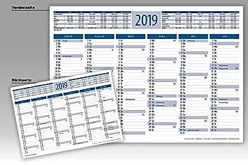 Calendario Din A4.Mesa Pizarra Calendario Din A4 Para 2019 3 Pieza Azul