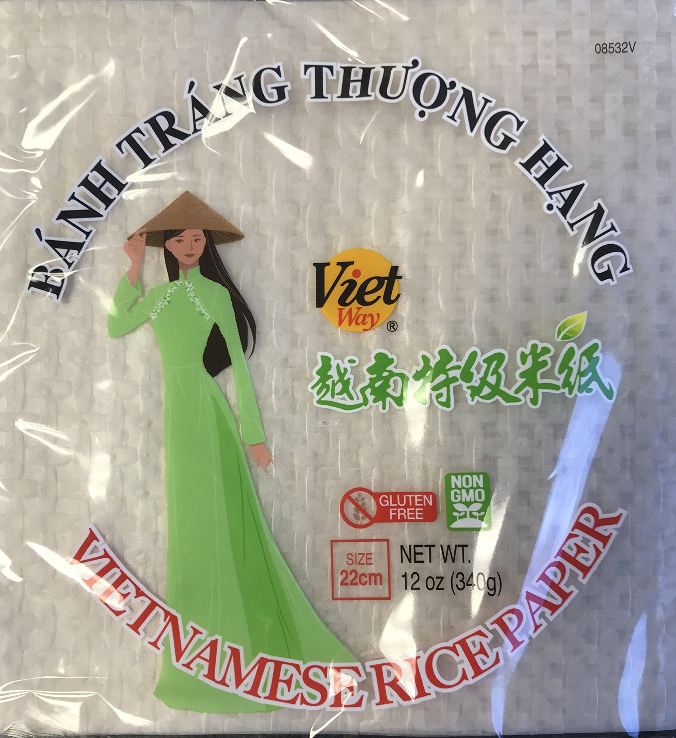 Viet Way Vietnamese Rice Paper 12 OZ Pack of 2 (22cm Square)
