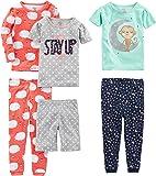 Simple Joys by Carter's Juego de Pijama de algodón de 6 Piezas Juego de Pijama para Niñas