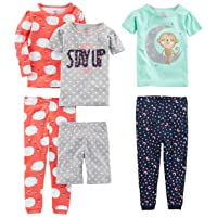 Simple Joys by Carter's Baby, Little Kid, and Toddler Girls' 6-Piece Snug Fit Cotton...