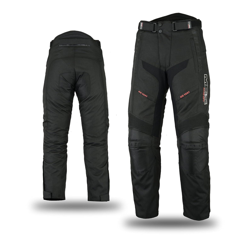 MBSmoto MP-51 –  para Motorista (Impermeable, Resistente al viente, Tejido Cordura) para Pantalones