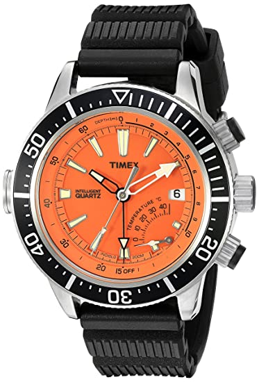Timex T2N812D7 - Reloj de cuarzo para hombres, correa de resina, color negro