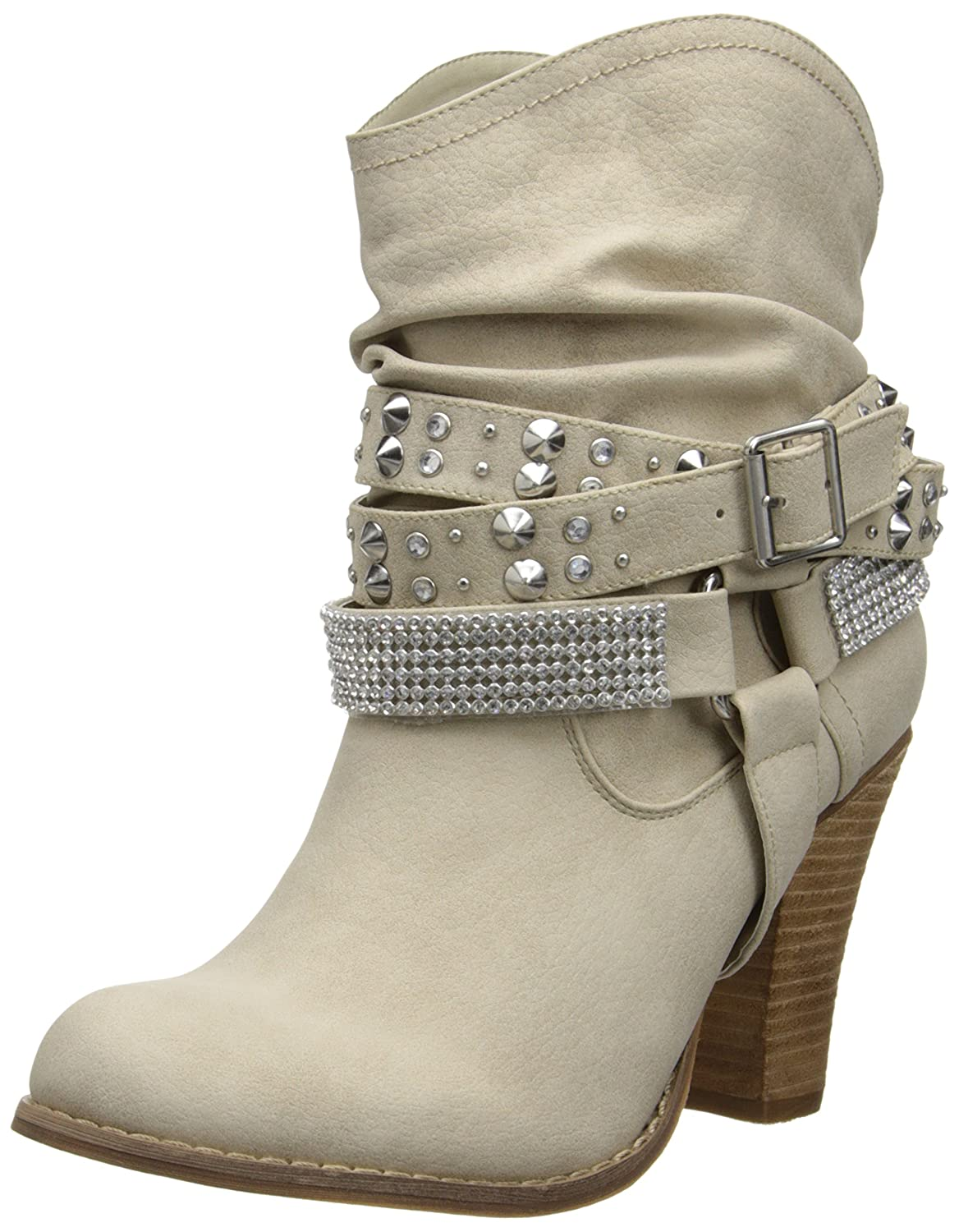 Not Rated Women's Double Dip Harness Boot B00JH39ESK 6 B(M) US|Cream