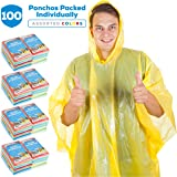 Wealers Rain Ponchos for Adults Teens Disposable Rain Poncho Bulk Pack Women Men Emergency Raincoat Big Groups Theme…