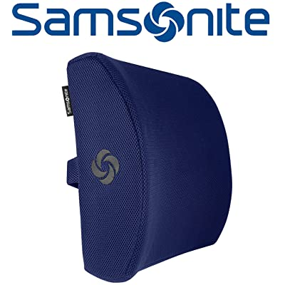 Samsonite SA5294 \ Ergonomic Lumbar Support Pillow \ Helps Relieve Lower Back Pain \ 100% Pure Memory Foam \ Improves Posture \ Fits Most Seats \ Breathable Mesh \ Washable Cover \ Adjustable Strap: Automotive