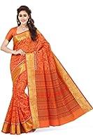 Rani Saahiba Women's Cotton Saree (Skr1382_Orange)