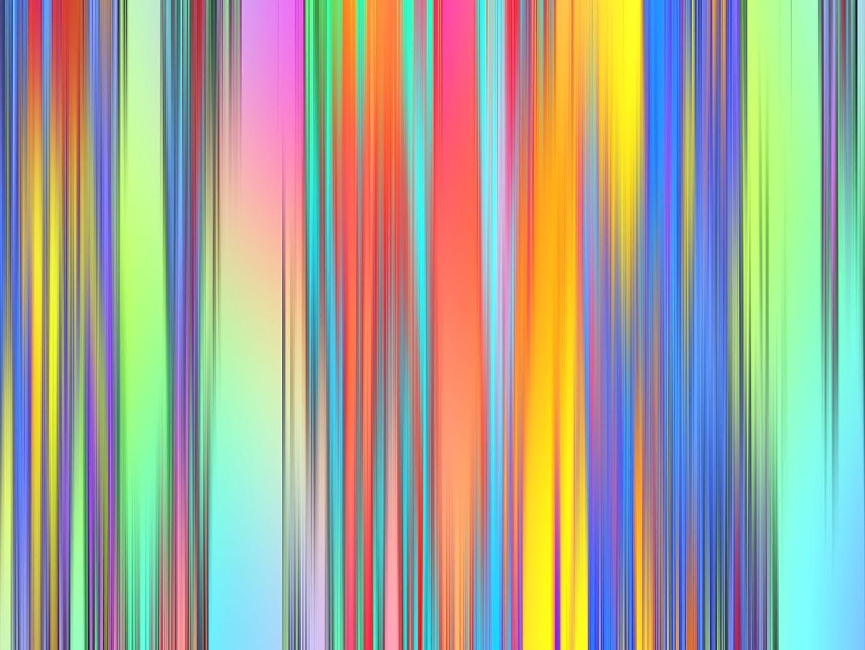 Rainbow Lines Glass Worktop Saver - 39.5 x 28cm Pearl Glass