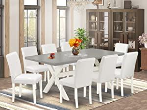 East West Furniture X097AB264-9 Dining Table Set, 72 x 42