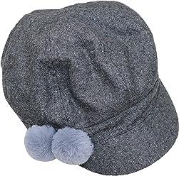 279c888d011 August Hat Co Pom Pom Wool Blend Women s Newsboy Hat