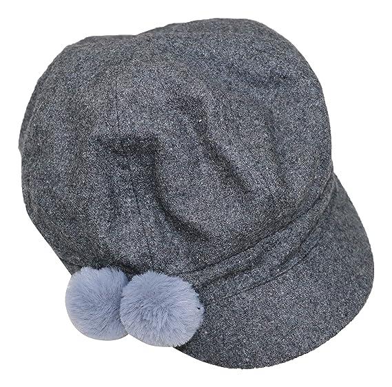 AUGUST HAT COMPANY Women s Pom Pom Newsboy Cap Grey One Size at ... ab90564a8c3a