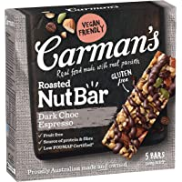 Carman's Nut Bar Dark Choc Espresso, 5 x 160 g