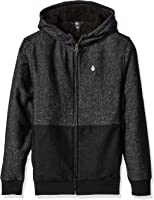 Volcom Big Boys' Static Stone Lined Zip up Hoodie Youth