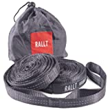 Hammock Tree Straps - Combined 2055 LB Breaking Strength, 20 Feet Long, 36 Loops. 100% No Stretch Polyester Suspension System. Like Python and ENO Straps