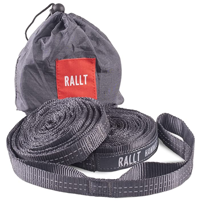 Rallt Hammock Tree Straps - 2000+ LB Breaking Strength, 20 Feet Long, 36 Loops