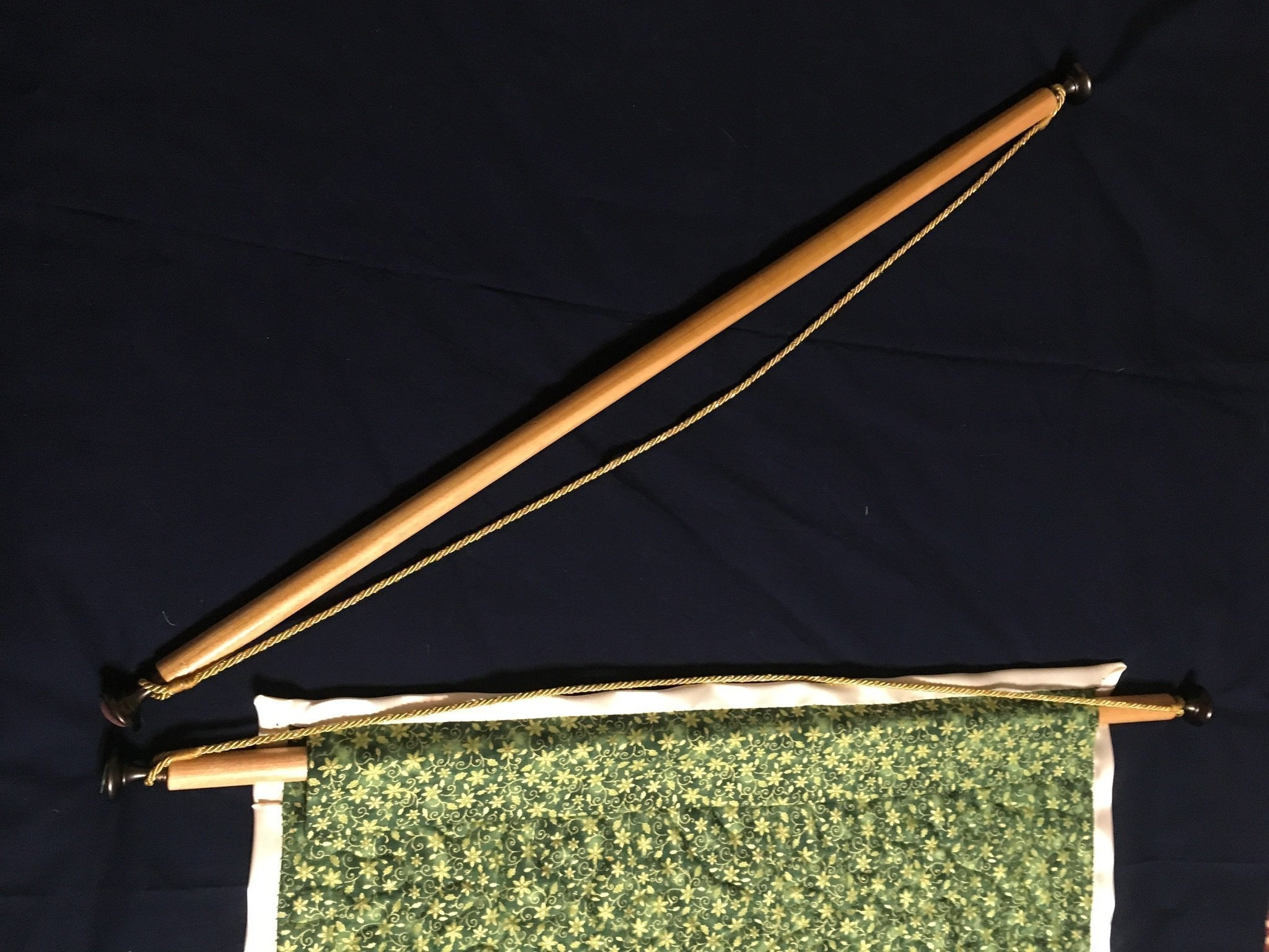 Custom Wall-hanging Rod for Quilts, Tapestries or Banners - custom length 18-28'' long