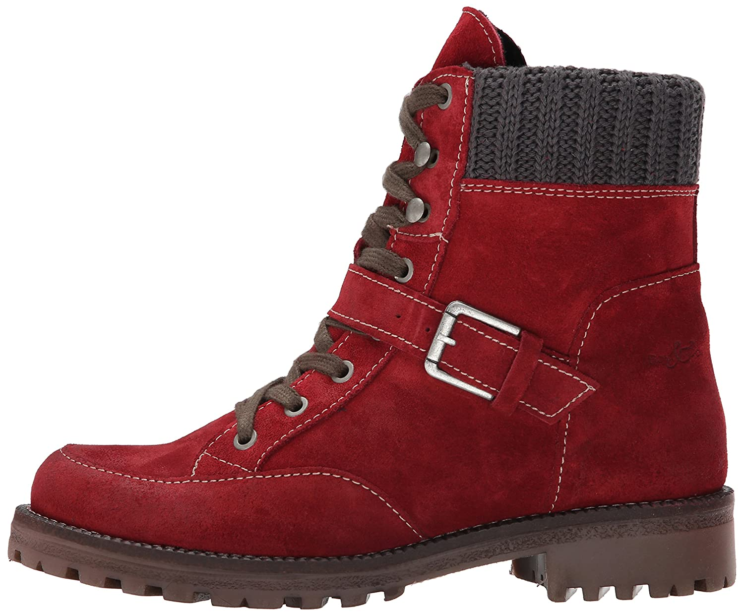 Bos. & Co. Women's Colony Boot B00VTCRIRG 38 EU/7.5-8 M US|Red/Grey