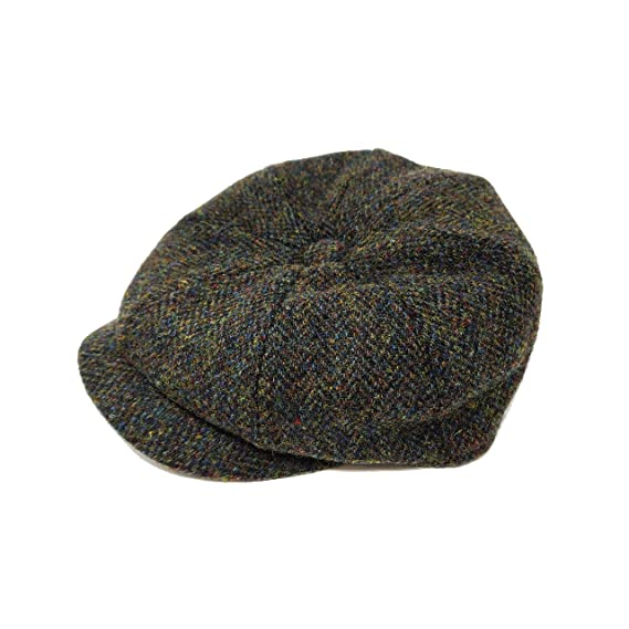 4667d78c537 Failsworth Men s Hat 100% Harris Tweed Wool Carloway Flat Cap 8-Panel   Amazon.co.uk  Clothing