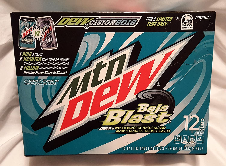 amazon com mountain dew dewcision baja blast or pitch black baja