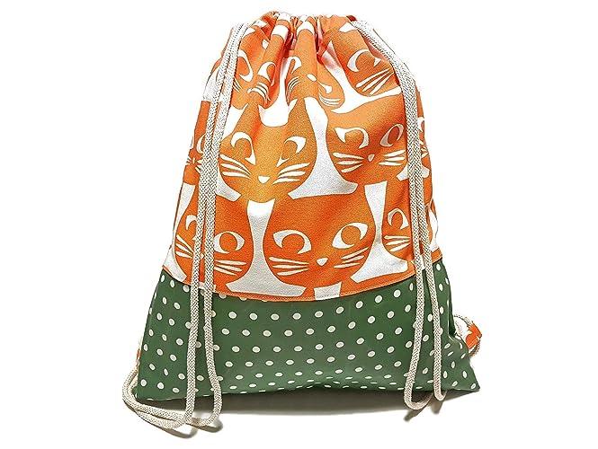 a24f0692493d5 Turnbeutel - Katzen Orange - Rucksack für Kinder
