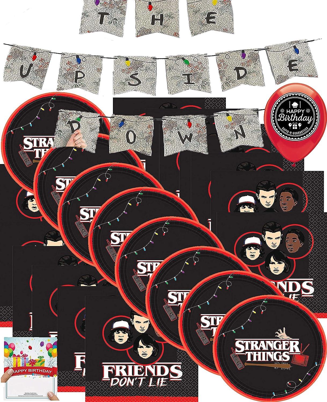 Stranger Things Suministros para fiesta de cumpleaños, platos de almuerzo y servilletas: Amazon.es: Juguetes y juegos