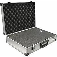 PeakTech 7265 – Universal Koffer für Messgeräte, Robuster Tragekoffer, Werkzeug Aufbewahrung, Würfelschaum Platten, Schaumstoff Polsterung, abschließbar, Staubschutz, XL - 390 x 280 x 100 mm