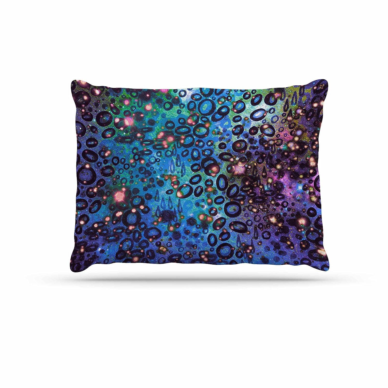 KESS InHouse EBI Emporium Rainbow Dotty Ocean, bluee Purple Black Dog Bed, 30  x 40