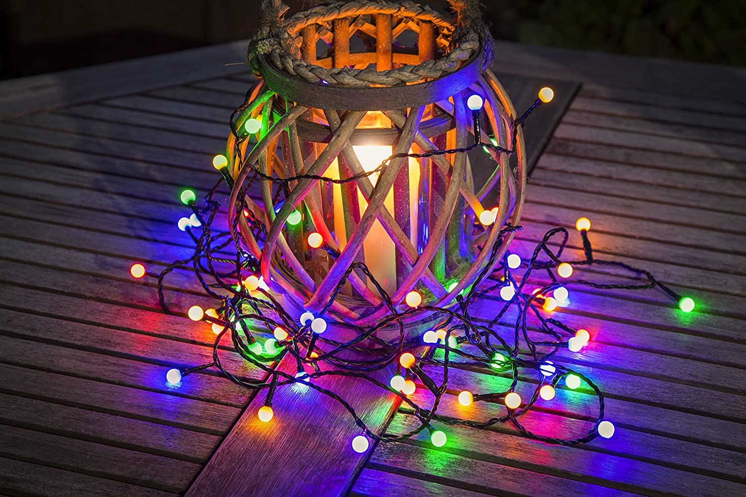 Konstsmide outdoor light set 80 led multi coloured berry fairy konstsmide outdoor light set 80 led multi coloured berry fairy lights indooroutdoor use on black cable amazon lighting mozeypictures Image collections