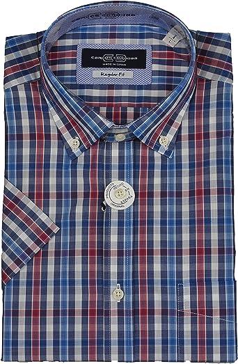 Carlos Cordoba - Camisa Manga Corta Cuadros: Amazon.es: Ropa y accesorios
