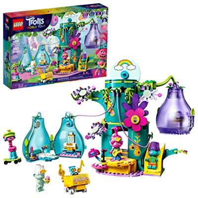 LEGO Trolls World Tour Pop Village Celebration 41255 Trolls Tree House Building Kit for Kids, New 2020 (380 Pieces): Toys & Games