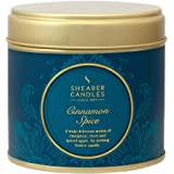 """Shearer Candles Large """"Cinnamon Spice"""" Scented Tin Candle, Teal"""