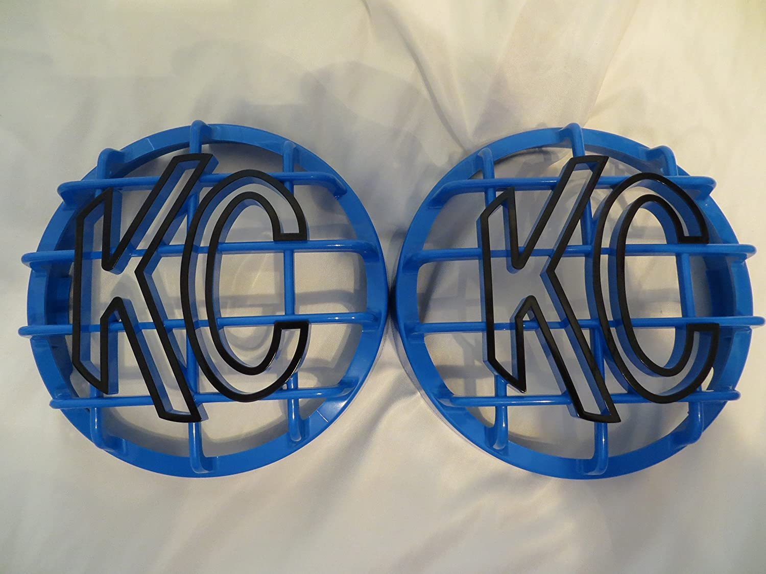 KC HiLiTES 6' Grill Guards KC Light Covers, Light Blue with Black Lettering Set of 2 (NOT for Apollo) Arizona Off Road Outfitters