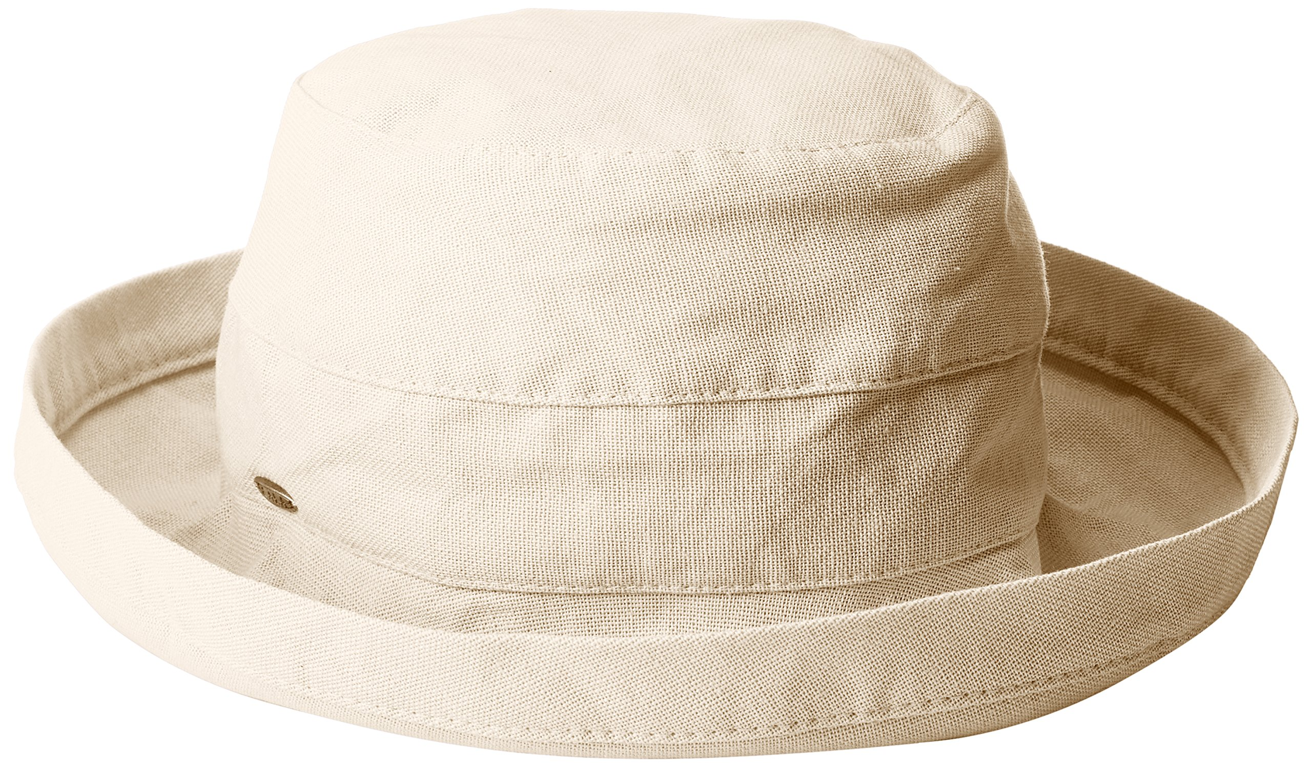 Scala Women's Medium Brim Cotton Hat, Linen, One Size