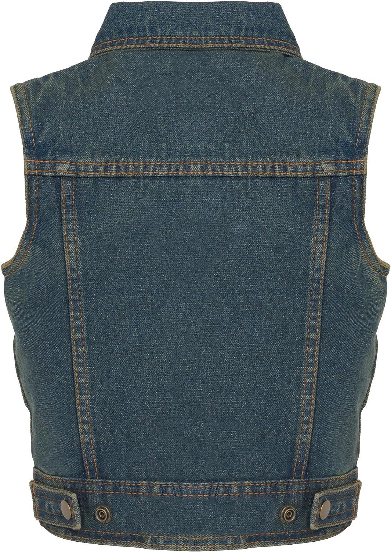Blue, X-Small Milwaukee Performance Denim Unisex-Child Kids Shirt Collar Snap Front Vest