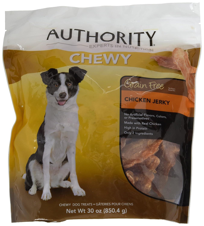 authority grain free chewy dog treats chicken jerky