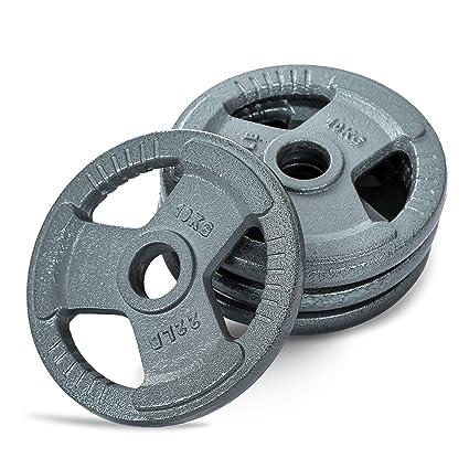 Leones de pesas placas hierro 5,08 cm 5 cm Barbell Bar Tri Grip ...