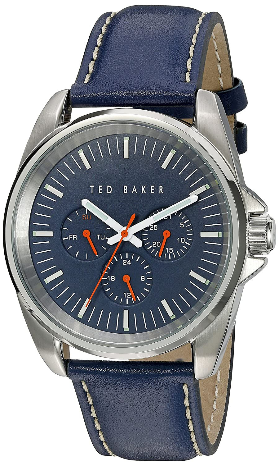 5b78f47d869e Amazon.com  Ted Baker Men s 10025259 Vintage Analog Display Japanese Quartz  Blue Watch  Ted Baker  Watches
