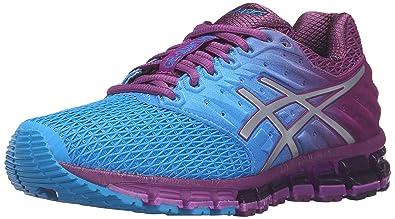 huge discount 72519 32a2a ASICS Women s Gel-Quantum 180 2 running Shoe, Blue Jewel Silver Phlox