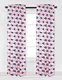 Bacati - Emma Aztec Kilim Coral/Mint/Navy Single Curtain Panel (SOLD INDIVIDUALLY)